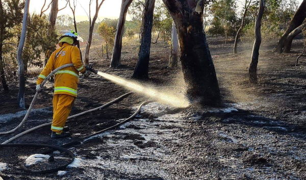 Bushfire foam in use