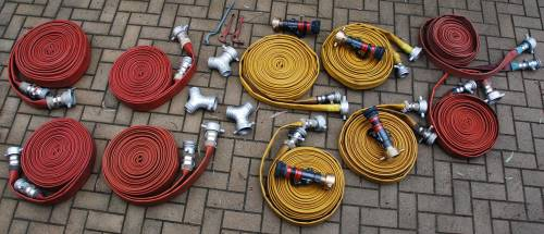 A collection of hoses