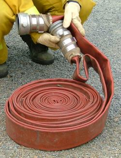 A 64mm hose with SAMFS couplings