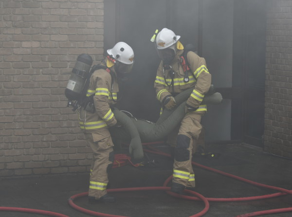 Structure fire exercise, Kent Town